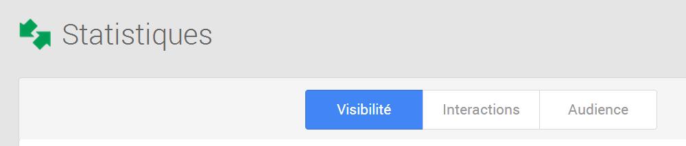 Statistiques proposées par Google Insights