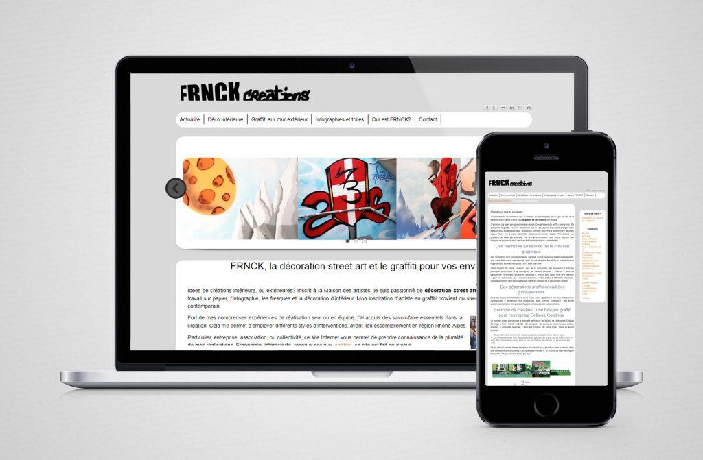 frnck cas client création site référencement artiste