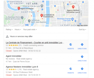 Google immobilier seo