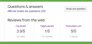 avis fiche Google My Business