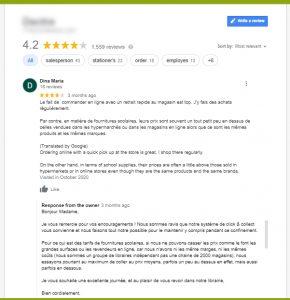 Avis local fiche google my business